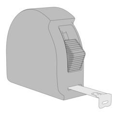 2d cartoon image of measure tape