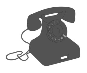 cartoon image of retro telephone