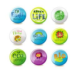 Glass eco badges