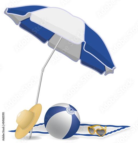 parasol ballon lunettes chapeau plage piscine jardin vacances 4 fichier vectoriel libre de. Black Bedroom Furniture Sets. Home Design Ideas