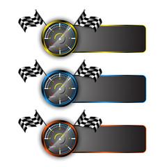 vector set of racing emblem motorsport concept