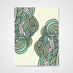 Abstract vector poster with hand drawn ornament.