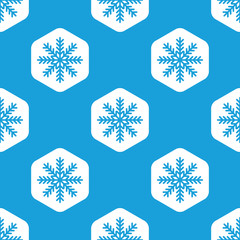 Snowflake hexagon pattern