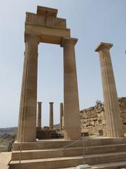 Grèce - ile de Rhodes - Lindos - Acropole - Temple d'Athéna