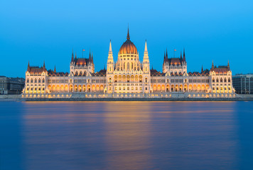 Budapest, Parliament building at night