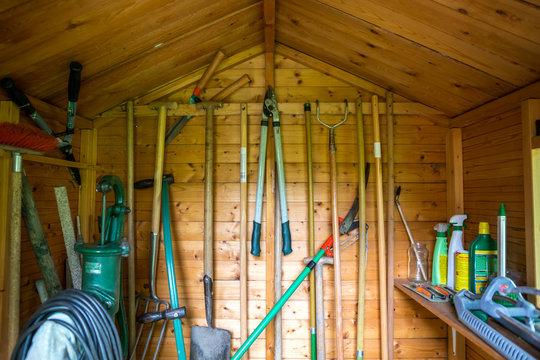 Gartenhütte, Innenansicht