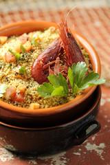couscous vegetables and shrimp