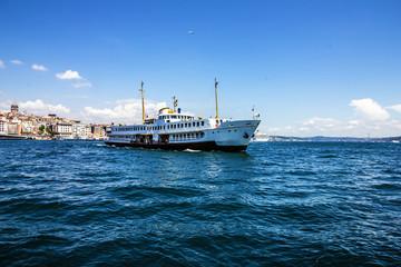 Passenger vessel in Bosporus, Istanbul, Turkey