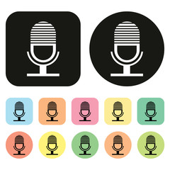 microphone icon. vector