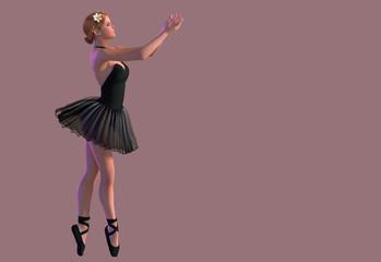 Flexible cute ballerina