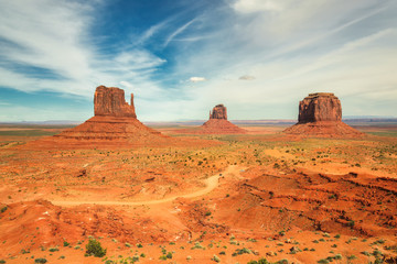 Classic View of Monument Valley Tribal Park, Utah
