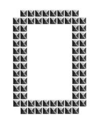 metal alphabet letter symbol  O, Pyramid Metal Studs