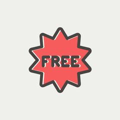 Free tag thin line icon