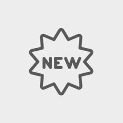 New tag thin line icon