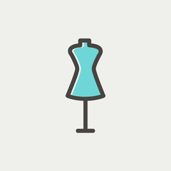 Mannequin thin line icon