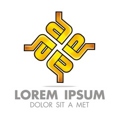 Logo Letter A E Icon Abstract