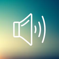Speaker volume thin line icon