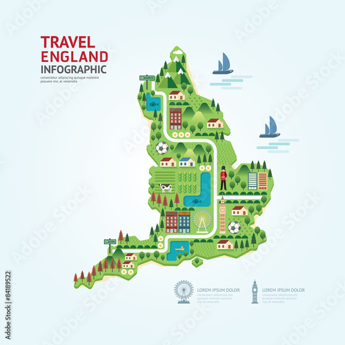 Infographic Travel And Landmark Germany Map Shape Template Desig - Germany map shape