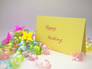 Massage Card; Happy Wedding