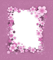 Banner with sakura flowers
