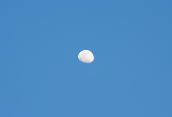 On the day of the moon visible during the day.
