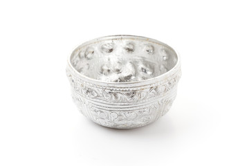Old silver bowl