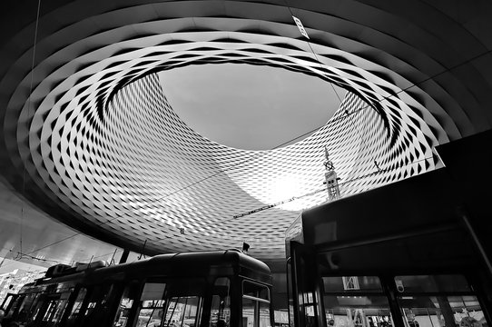BASEL, SWITZERLAND - NOVEMBER 01 2014: Exhibition Center in the