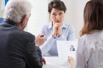 Difficult job interview