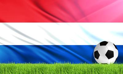 The National Flag of Netherlands (Holland)