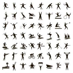 56 black sport icons