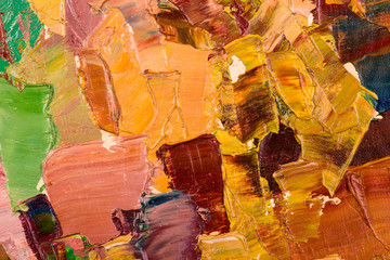 Oil painting abstract brushstrokes