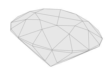 cartoon image of diamond cut