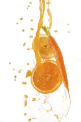 succo di arancia carota limone splash