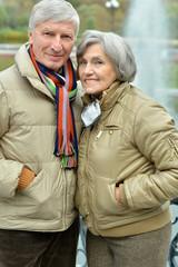 Senior couple resting