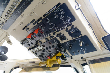 Helicopter cabin command