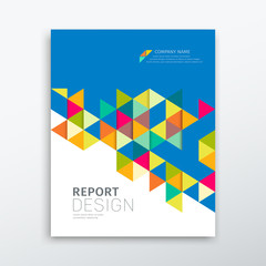 Cover annual report colorful triangles geometric design