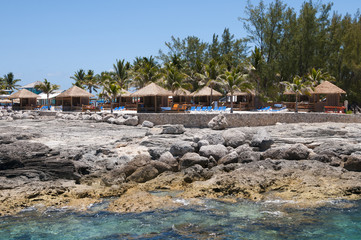 Huts on a reef
