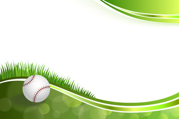 Background abstract green baseball ball