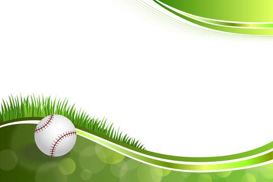 Background abstract green baseball ball