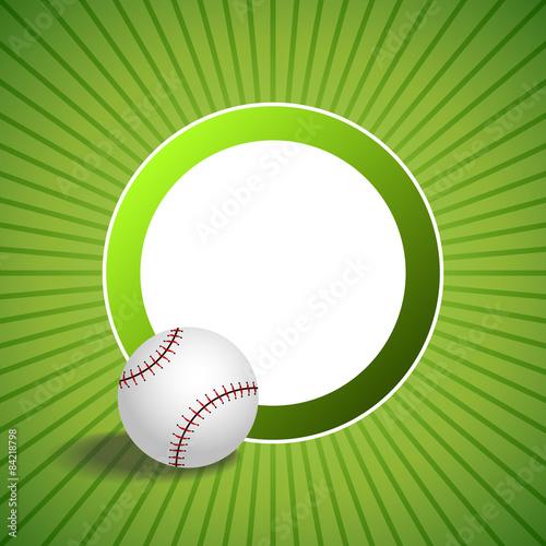 73aff17aa288 Background abstract green baseball ball circle frame