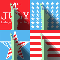 4th of July. Independence Day, America, USA