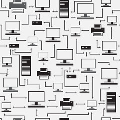 Eectronic devices seamless pattern.