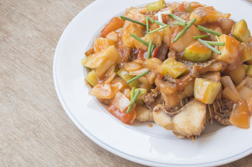 Sweet & sour fish fried