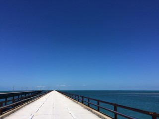 Old and new Seven Mile Bridge on the Florida Keys