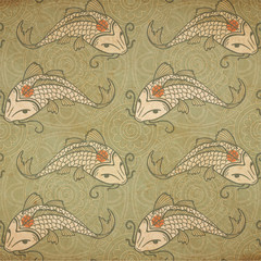 Koi carp background