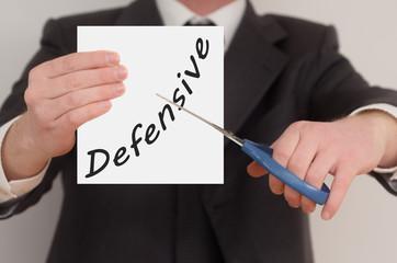 Defensive, determined man healing bad emotions