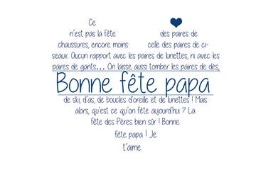fête des pères, poème dans un cœur