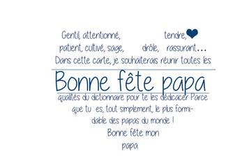 fête des pères, poème dans un coeur