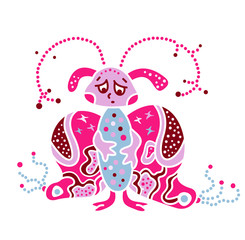 Monster creature essence the virus like bacteria butterfly