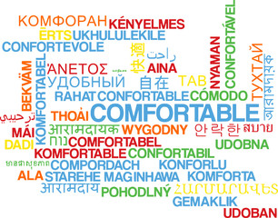 Comfortable multilanguage wordcloud background concept
